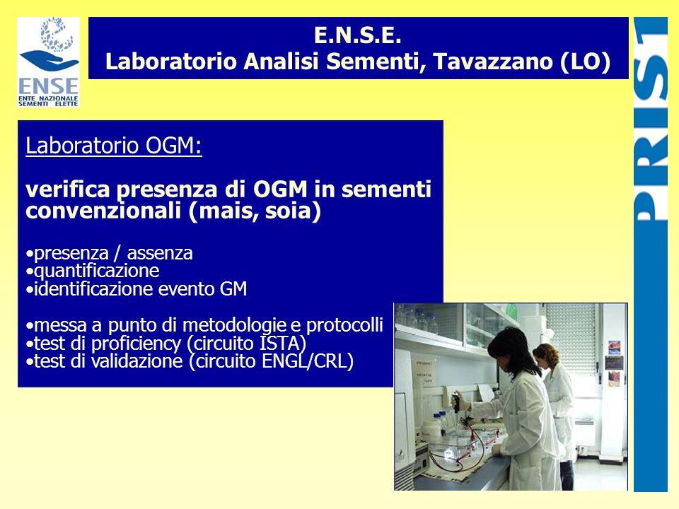E.N.S.E. Laboratorio Analisi Sementi, Tavazzano (LO)
