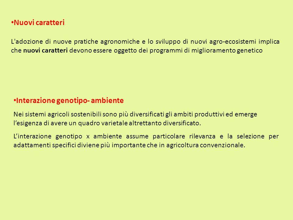 Interazione genotipo- ambiente