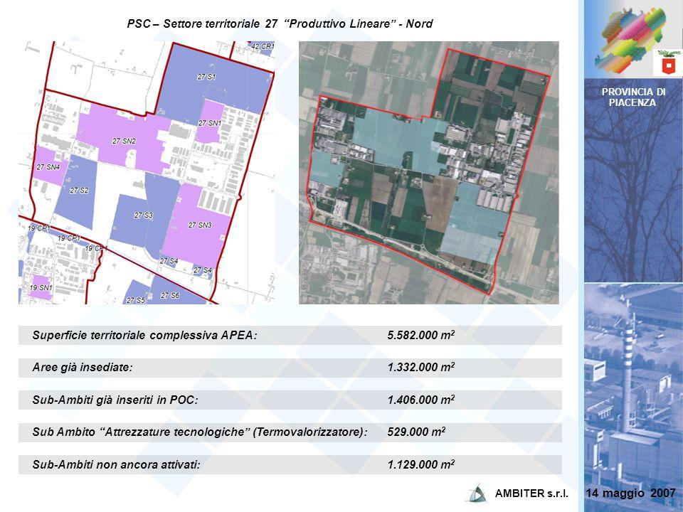 PSC – Settore territoriale 27 Produttivo Lineare - Nord