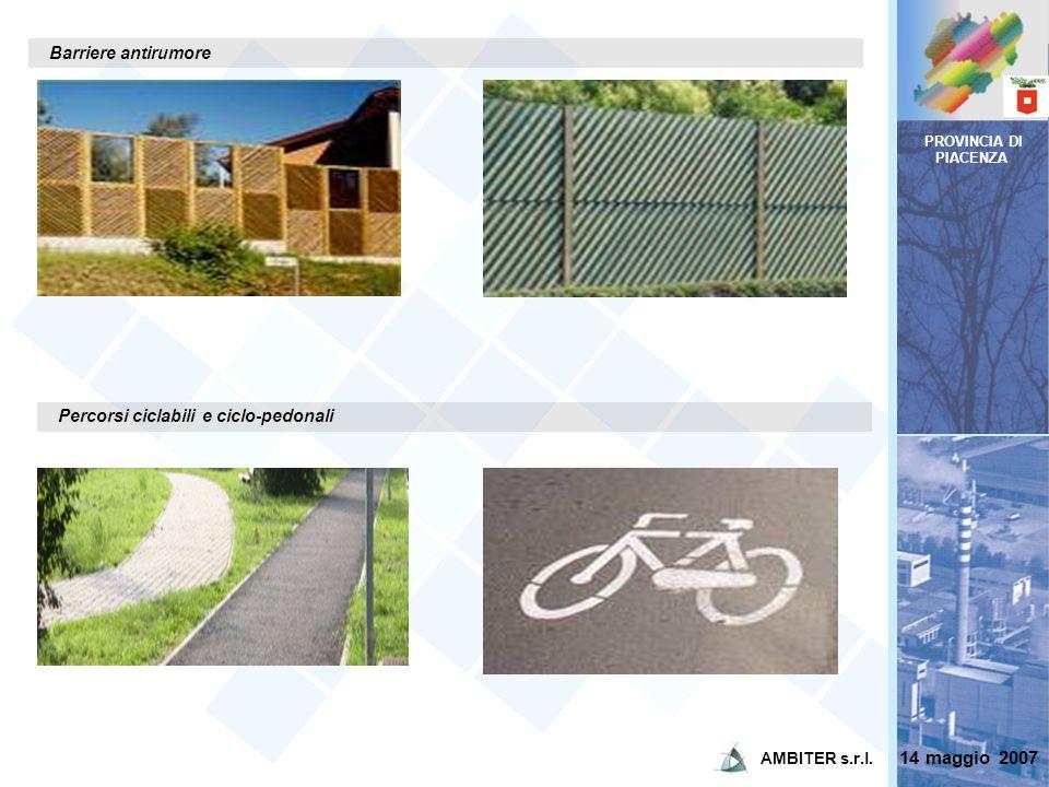 14 maggio 2007 Barriere antirumore Percorsi ciclabili e ciclo-pedonali