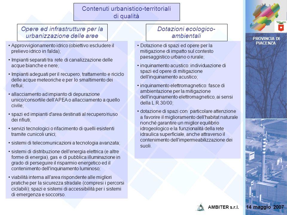 Contenuti urbanistico-territoriali di qualità