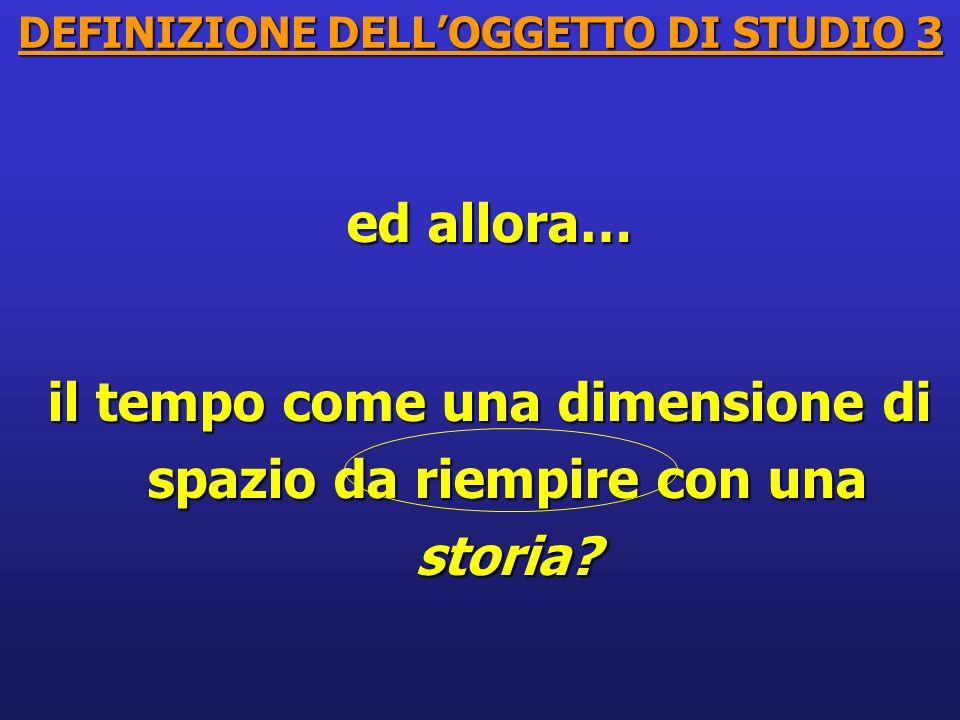 DEFINIZIONE DELL'OGGETTO DI STUDIO 3