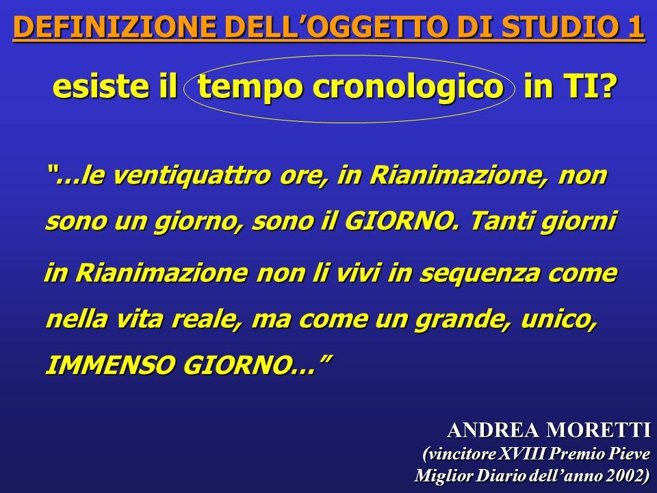 DEFINIZIONE DELL'OGGETTO DI STUDIO 1