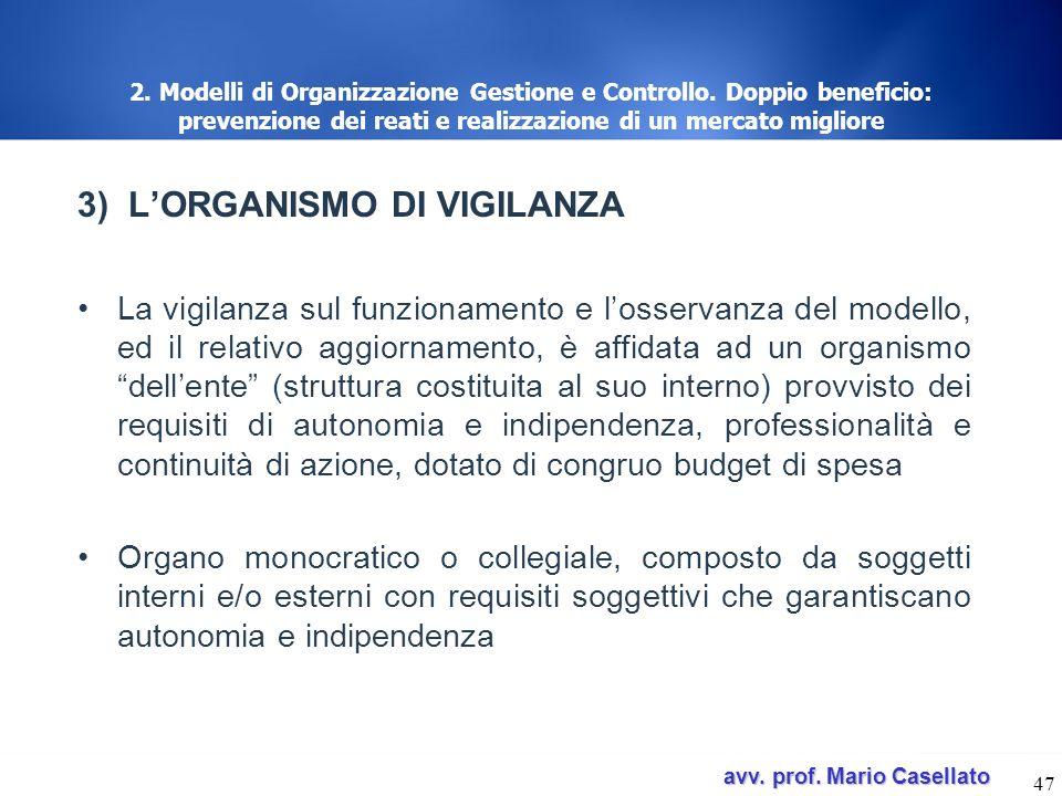 3) L'ORGANISMO DI VIGILANZA