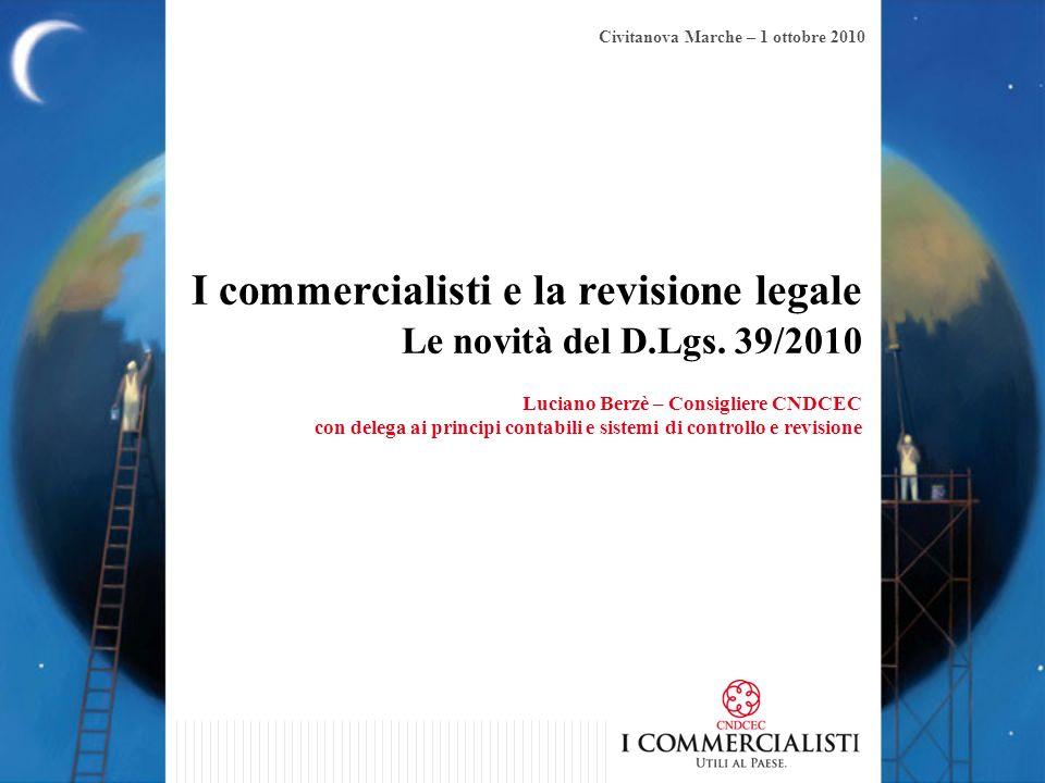I commercialisti e la revisione legale