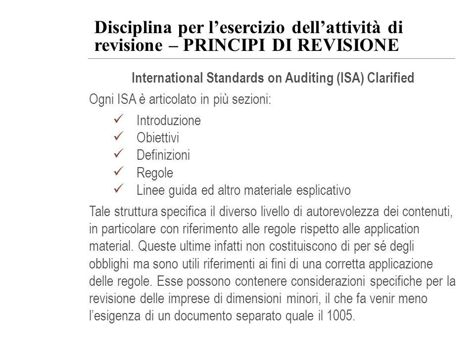 International Standards on Auditing (ISA) Clarified