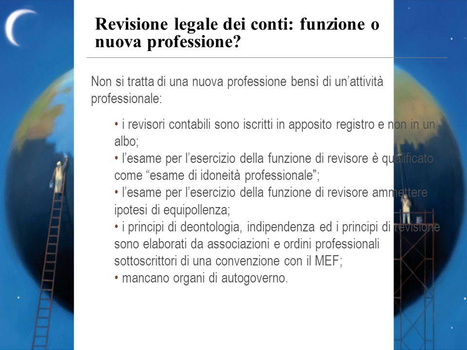 Revisione legale dei conti: funzione o nuova professione