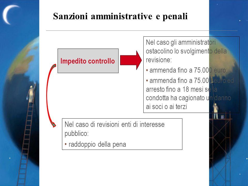 Sanzioni amministrative e penali