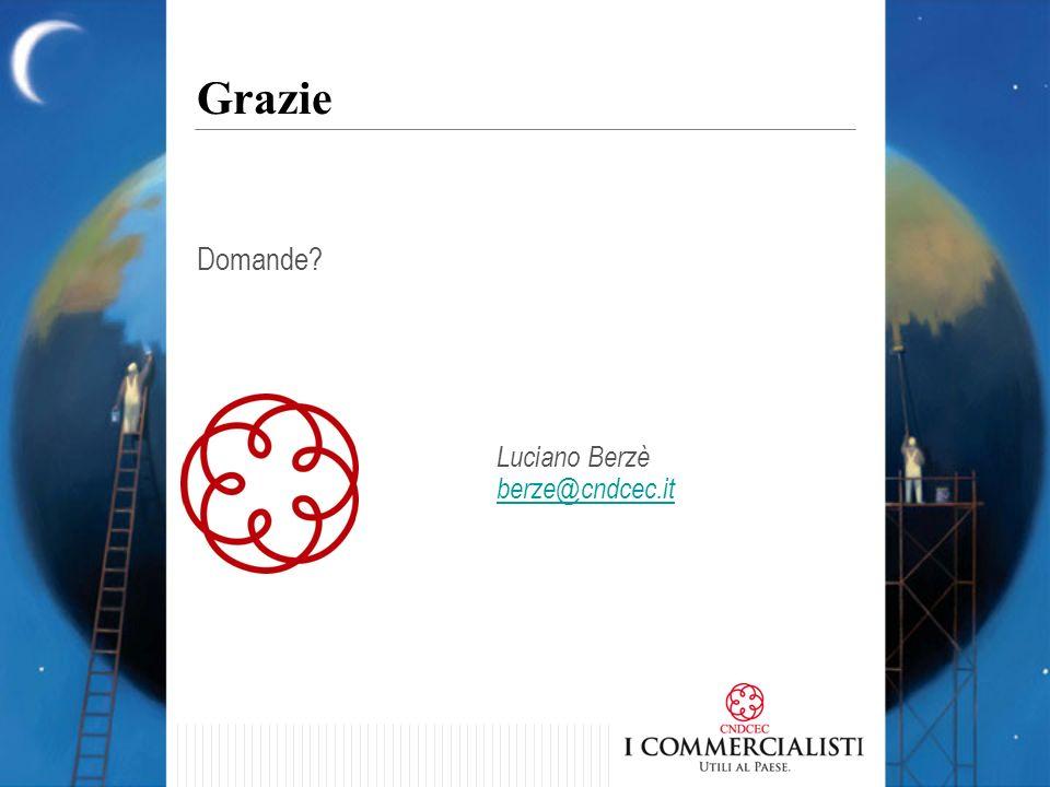 Grazie Domande Luciano Berzè berze@cndcec.it 44