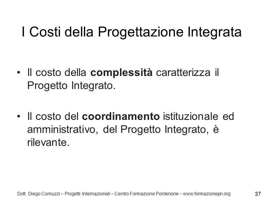I Costi della Progettazione Integrata