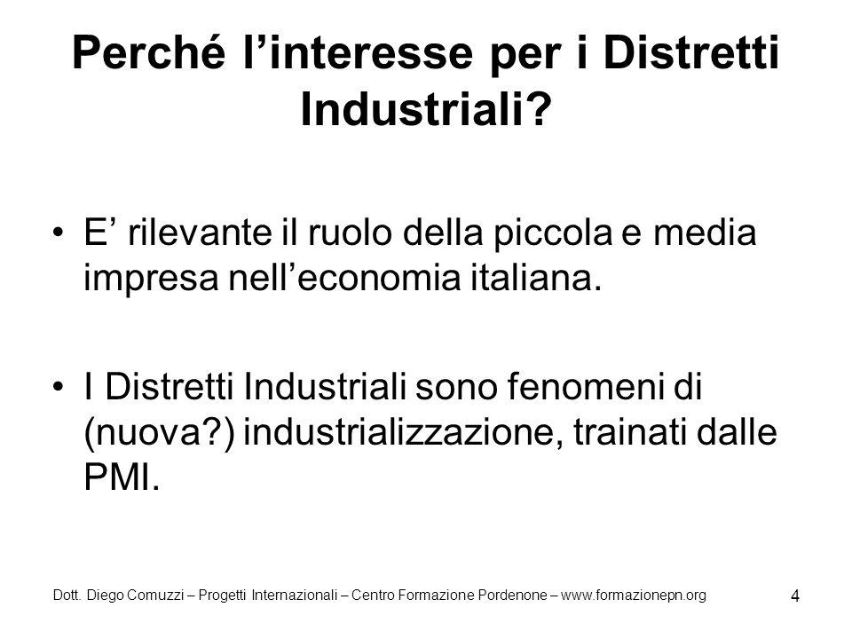 Perché l'interesse per i Distretti Industriali