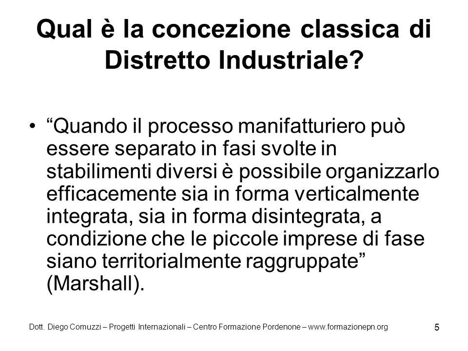 Qual è la concezione classica di Distretto Industriale