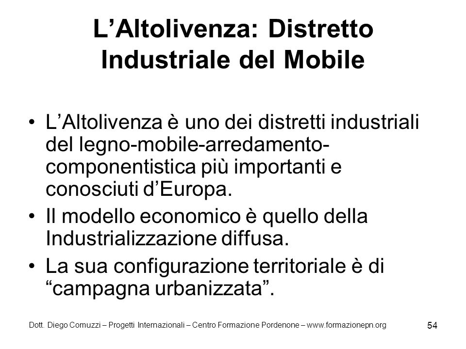 L'Altolivenza: Distretto Industriale del Mobile