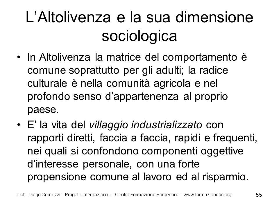 L'Altolivenza e la sua dimensione sociologica