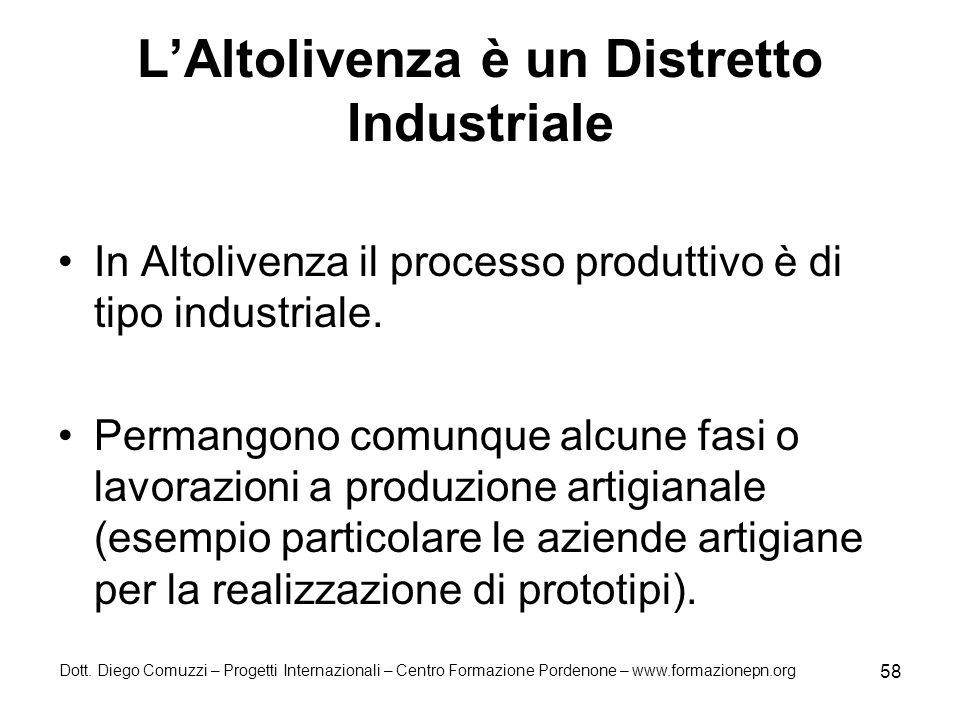L'Altolivenza è un Distretto Industriale