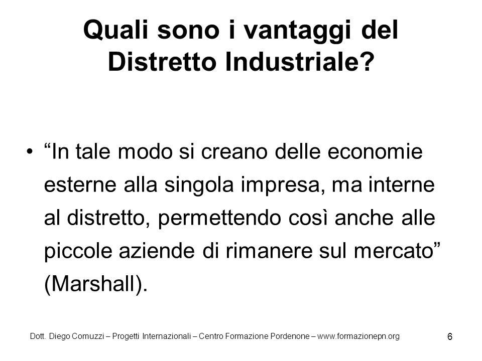 Quali sono i vantaggi del Distretto Industriale