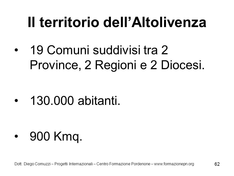 Il territorio dell'Altolivenza
