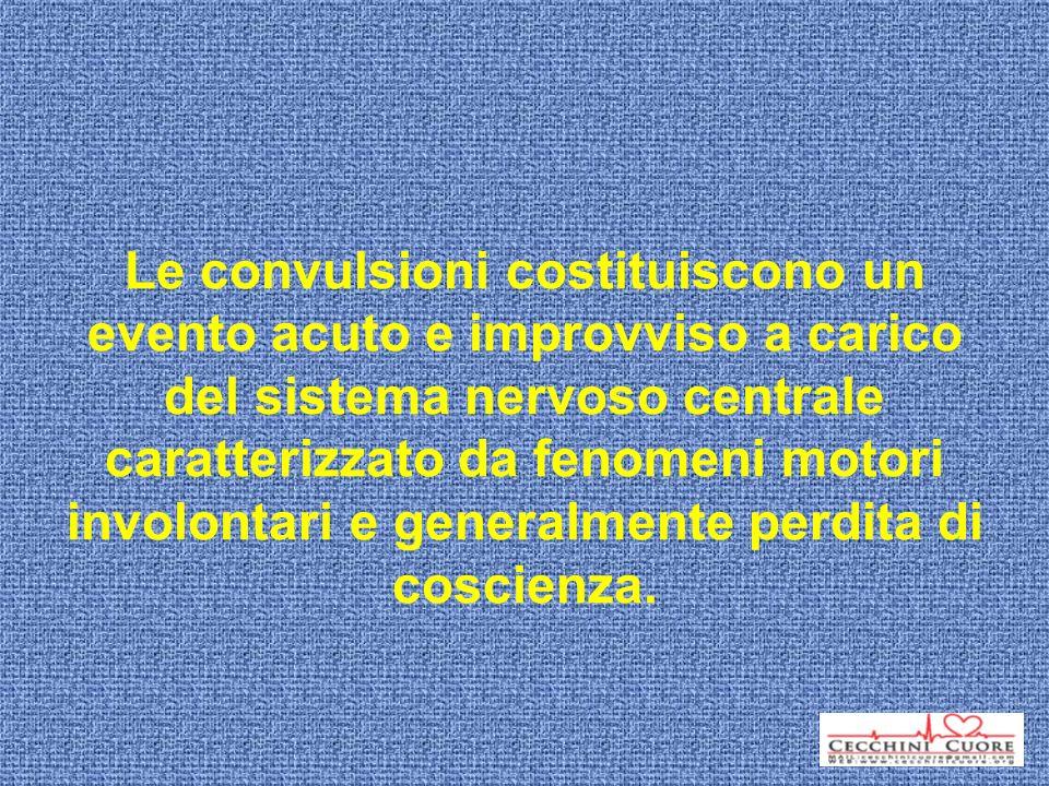 Le convulsioni costituiscono un evento acuto e improvviso a carico del sistema nervoso centrale caratterizzato da fenomeni motori involontari e generalmente perdita di coscienza.
