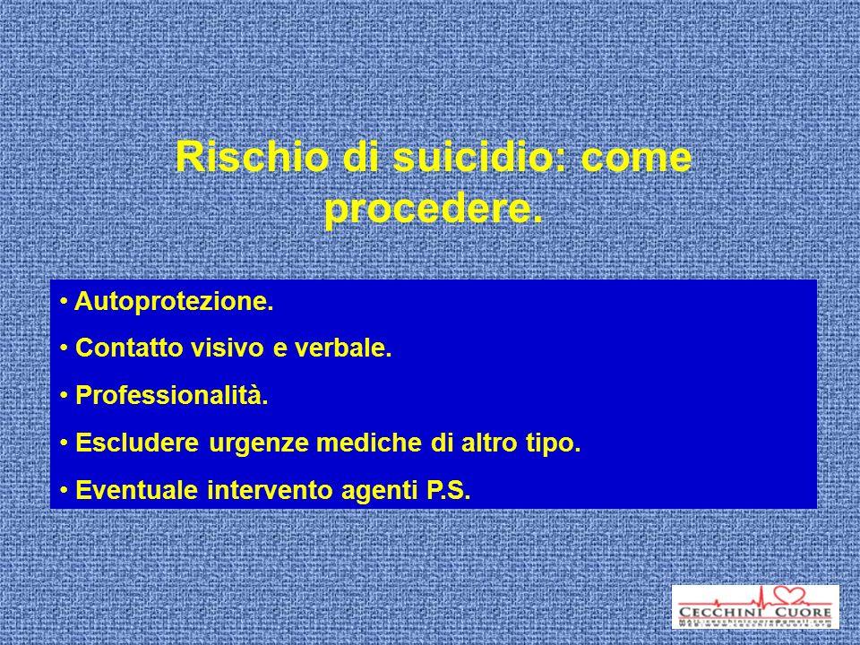 Rischio di suicidio: come procedere.