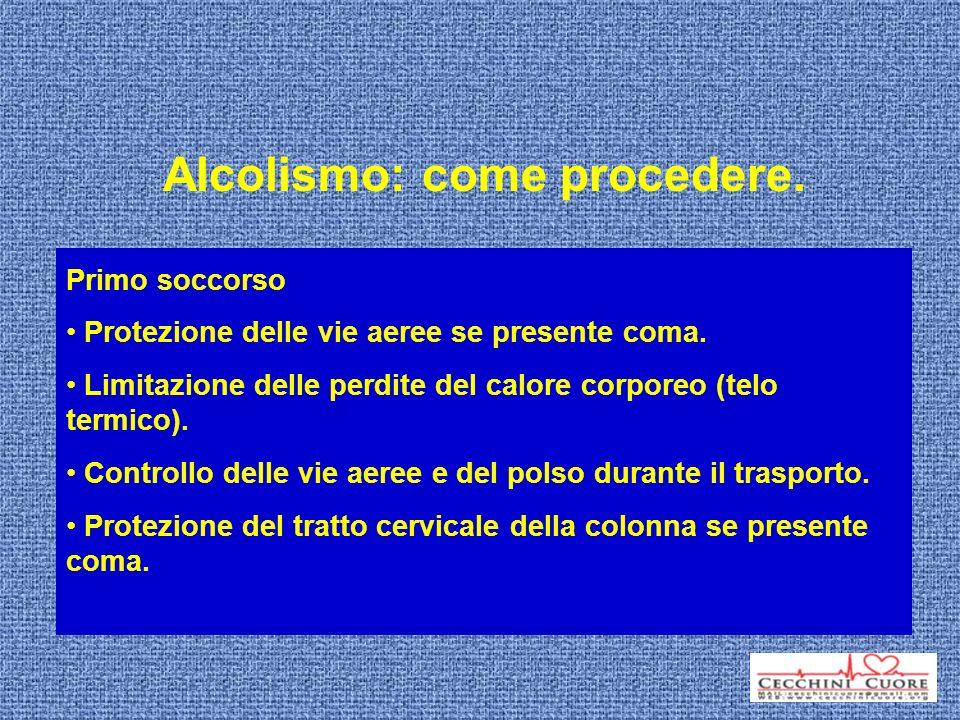 Alcolismo: come procedere.