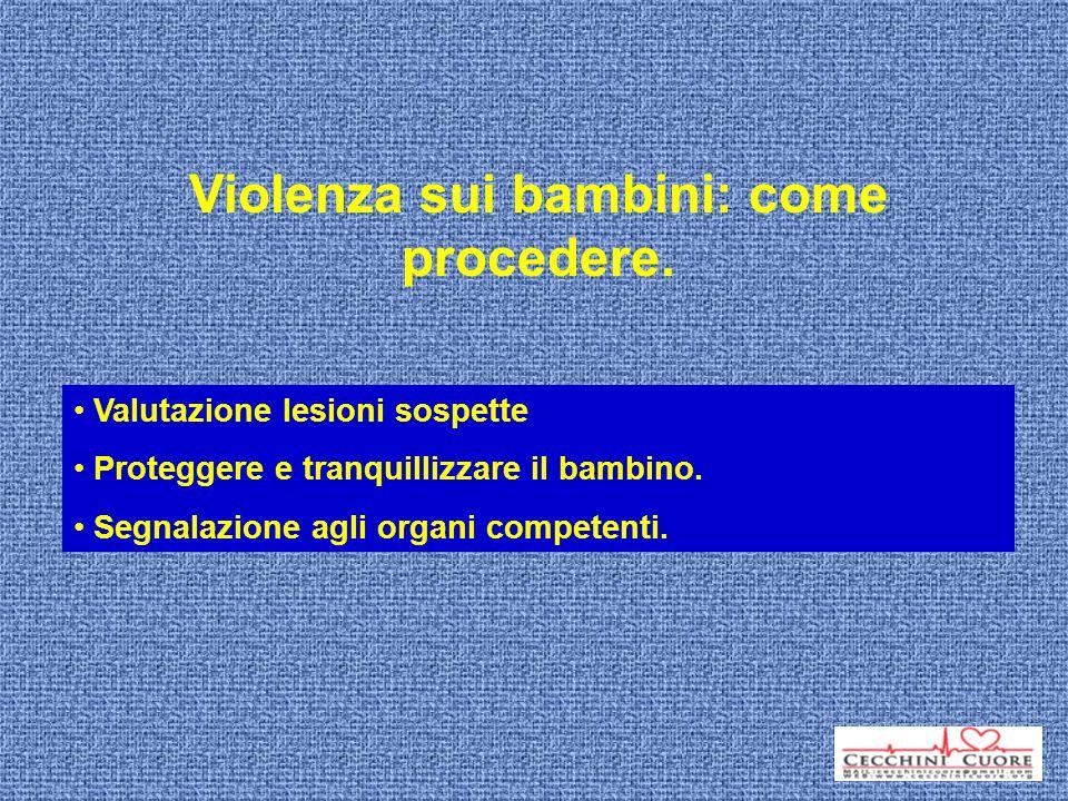 Violenza sui bambini: come procedere.