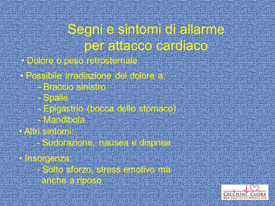 Segni e sintomi di allarme