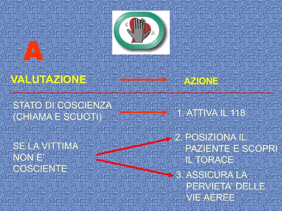 A VALUTAZIONE AZIONE STATO DI COSCIENZA (CHIAMA E SCUOTI)