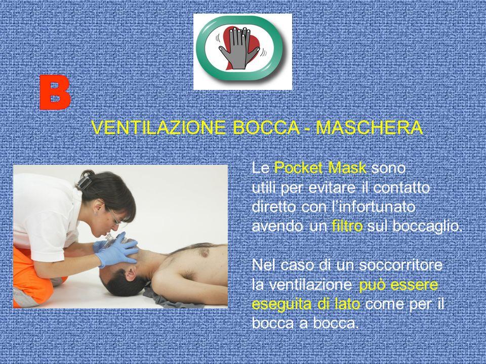 B VENTILAZIONE BOCCA - MASCHERA Le Pocket Mask sono