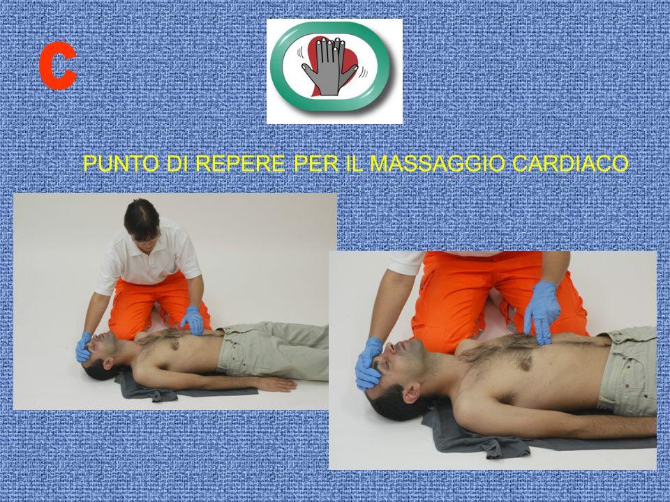 PUNTO DI REPERE PER IL MASSAGGIO CARDIACO
