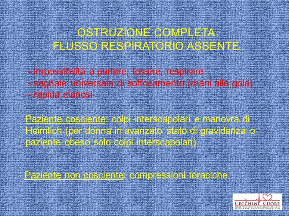 FLUSSO RESPIRATORIO ASSENTE