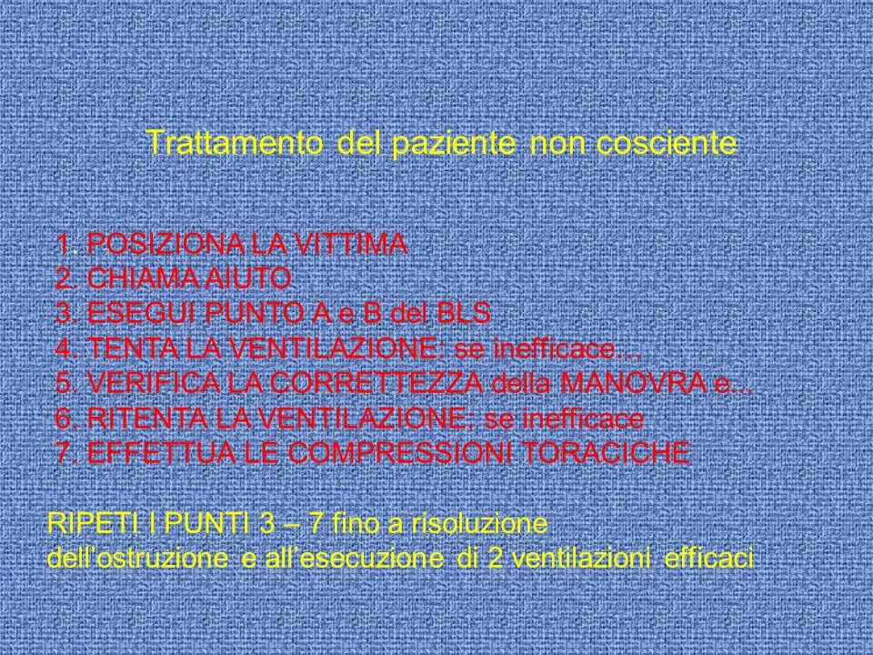 Trattamento del paziente non cosciente