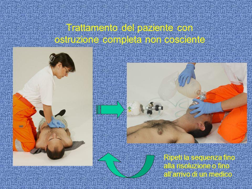 Trattamento del paziente con ostruzione completa non cosciente