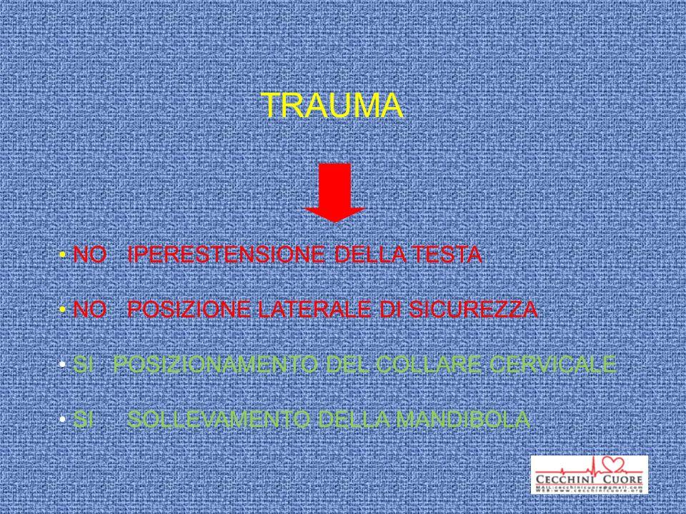 TRAUMA NO IPERESTENSIONE DELLA TESTA