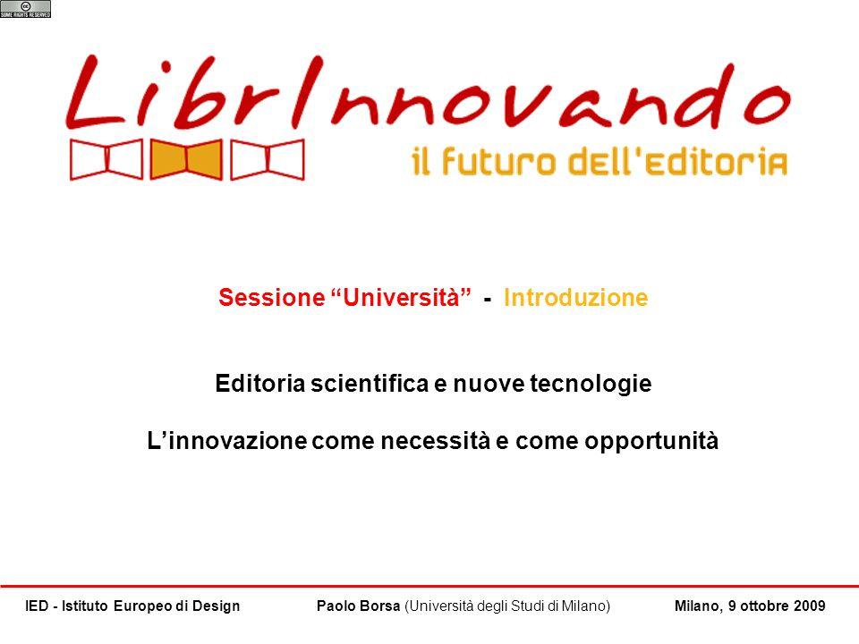 Sessione Università - Introduzione