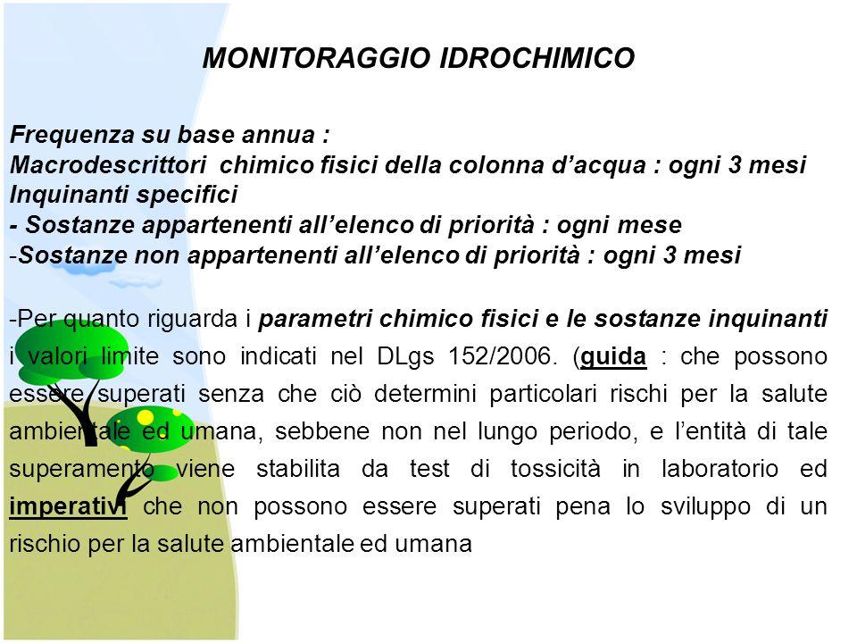 MONITORAGGIO IDROCHIMICO