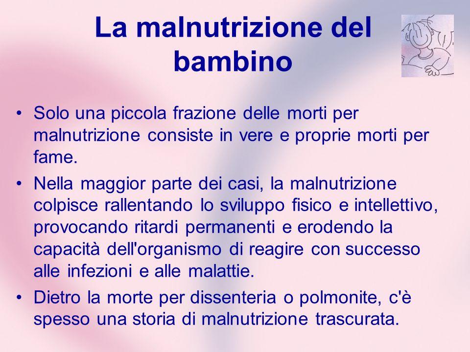La malnutrizione del bambino