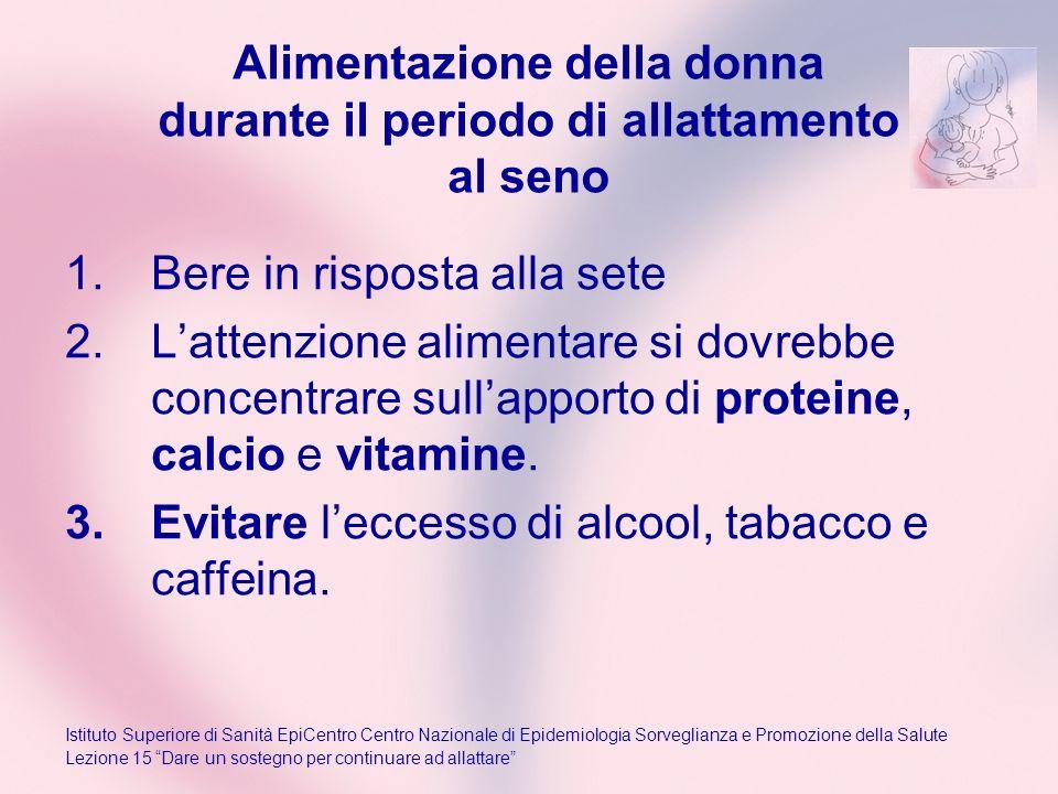 Alimentazione della donna durante il periodo di allattamento al seno