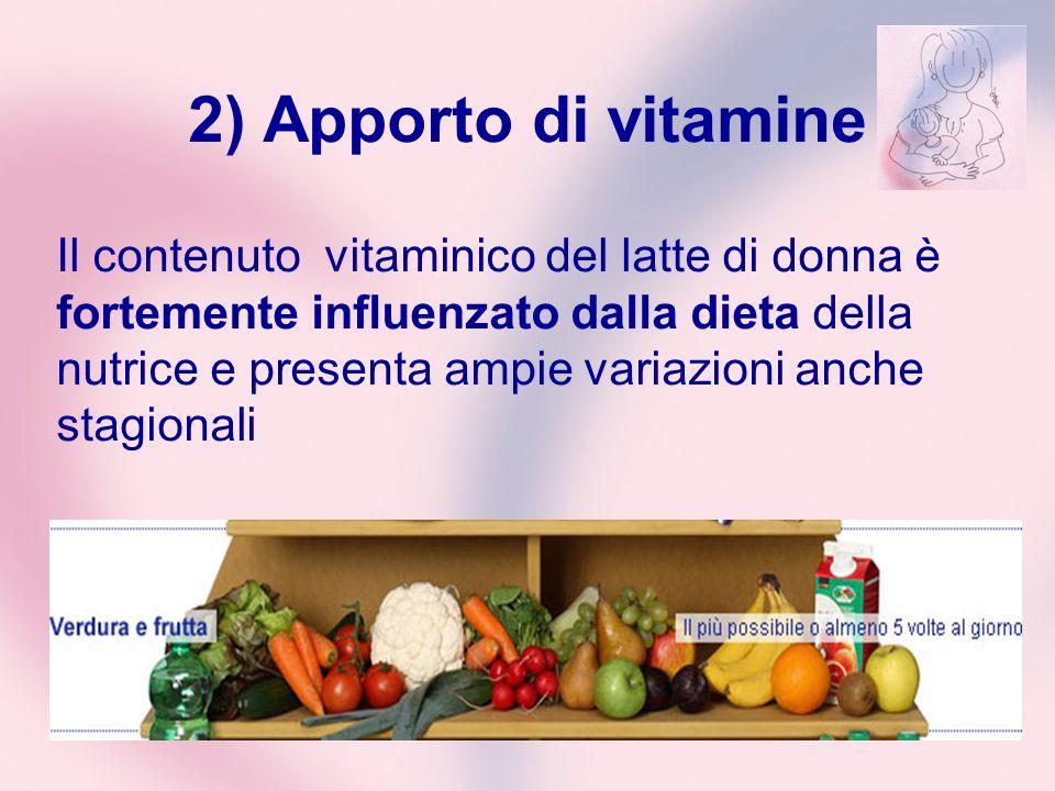 2) Apporto di vitamine