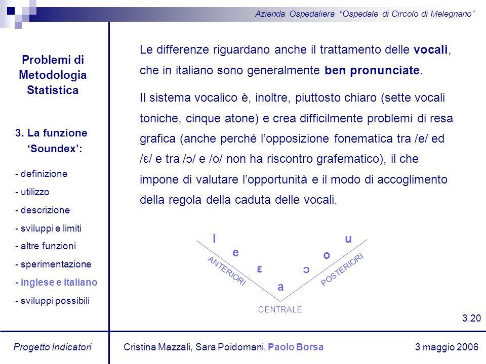 Problemi di Metodologia Statistica