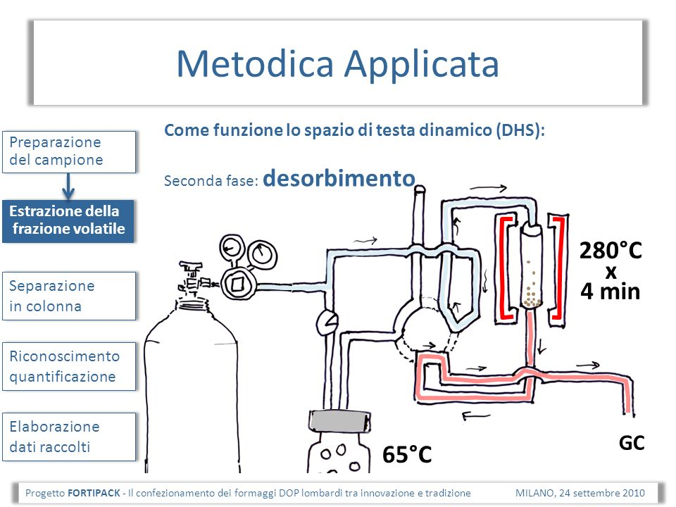 Metodica Applicata 280°C x 4 min 65°C GC