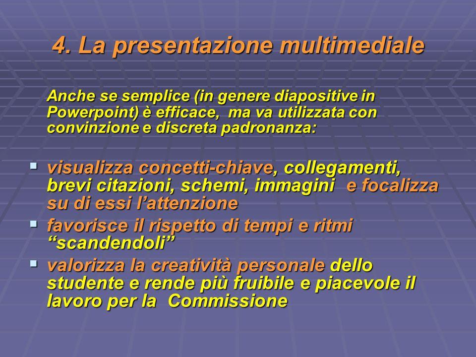4. La presentazione multimediale