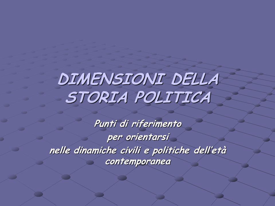 DIMENSIONI DELLA STORIA POLITICA
