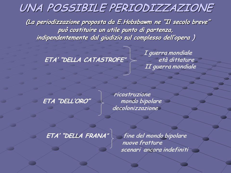 UNA POSSIBILE PERIODIZZAZIONE (La periodizzazione proposta da E