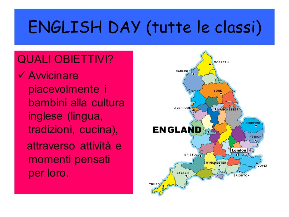 ENGLISH DAY (tutte le classi)