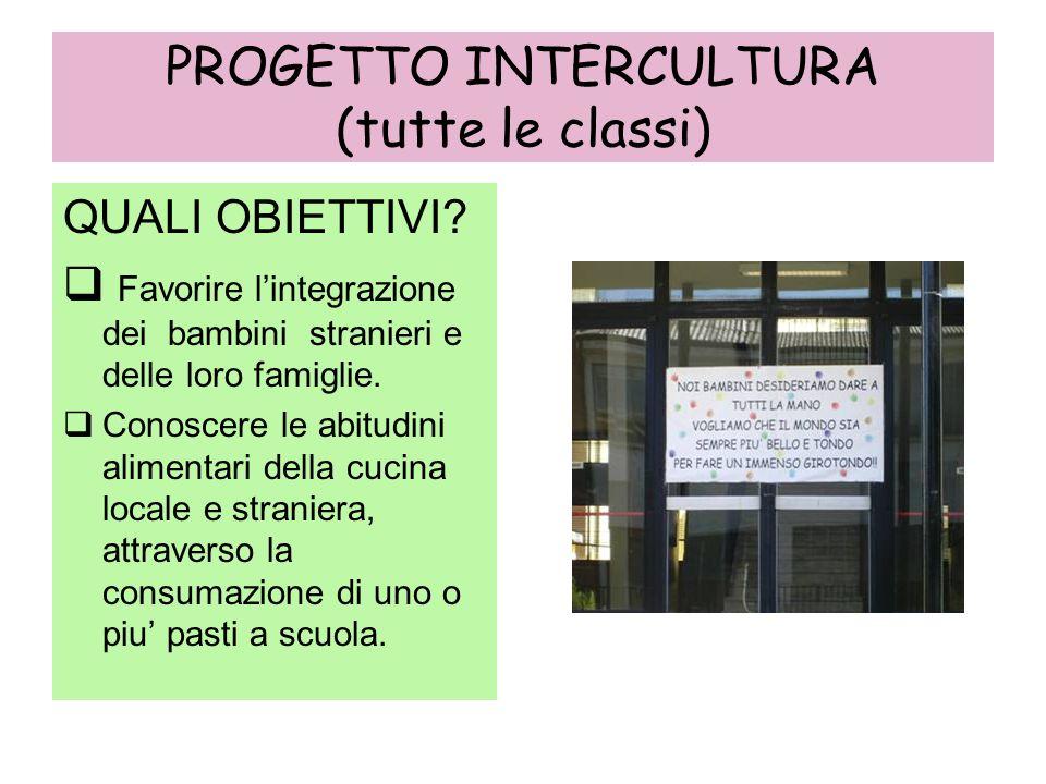 PROGETTO INTERCULTURA (tutte le classi)