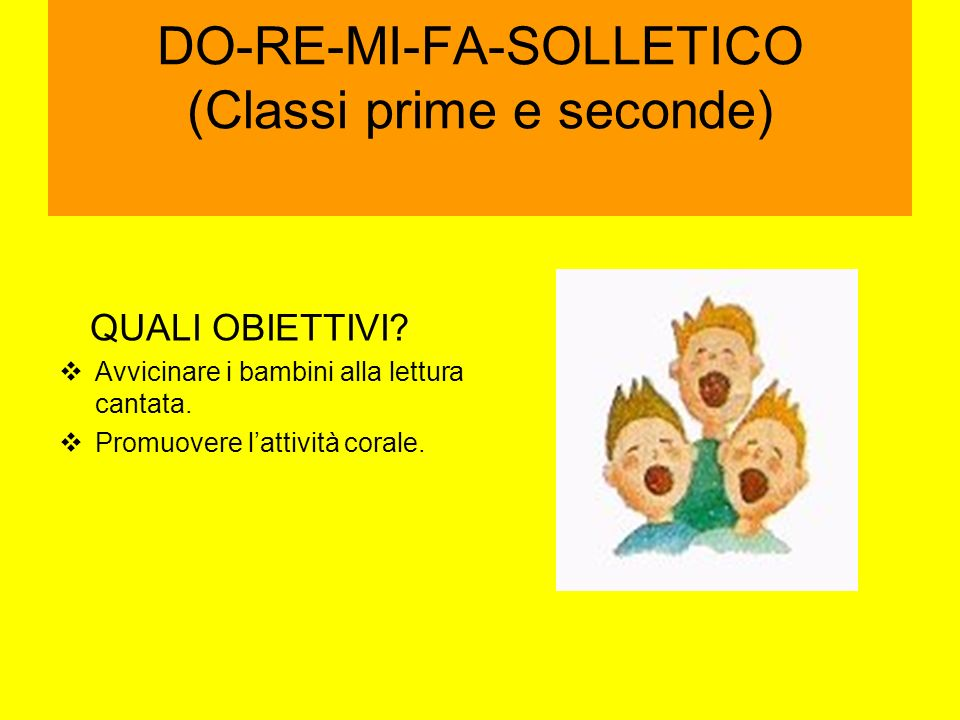 DO-RE-MI-FA-SOLLETICO (Classi prime e seconde)