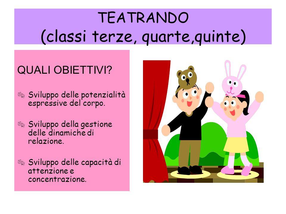 TEATRANDO (classi terze, quarte,quinte)