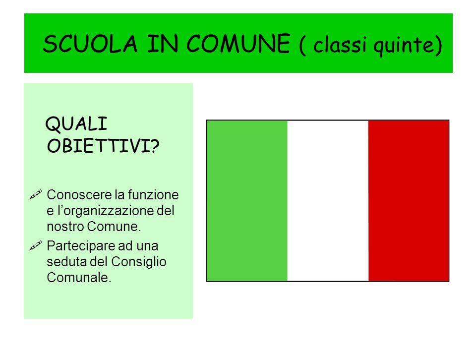 SCUOLA IN COMUNE ( classi quinte)