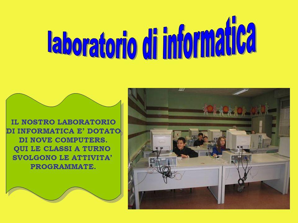 laboratorio di informatica DI INFORMATICA E' DOTATO