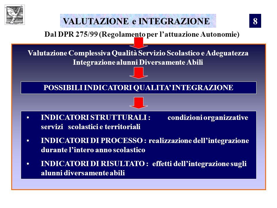 VALUTAZIONE e INTEGRAZIONE 8